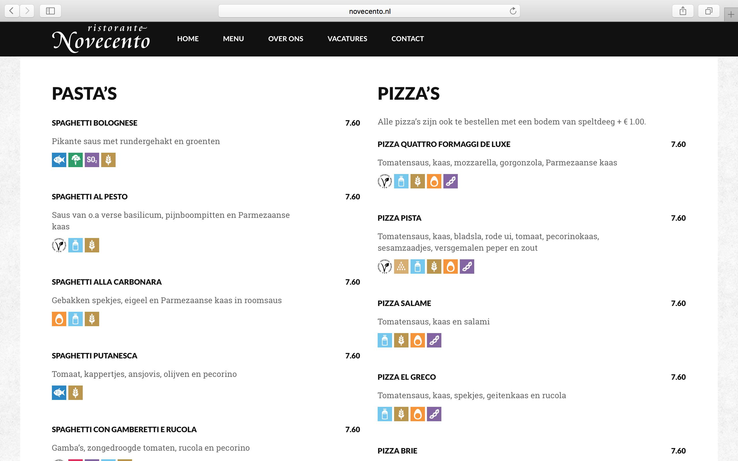 Novecento | Website